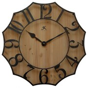 "Infinity Instruments 26.75""H x 26.75""L x 2.5""D Black Clock (15221NT)"