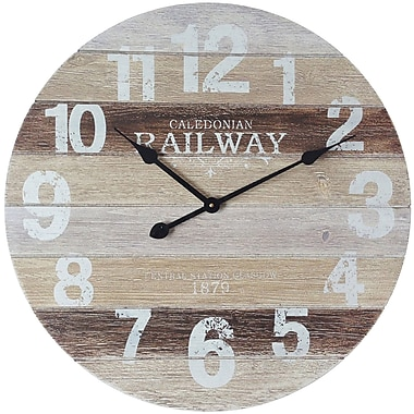 Infinity Instruments – Horloge de 23,75 haut. x 23,75 larg. x 1,75 prof. (po), blanc (15261)