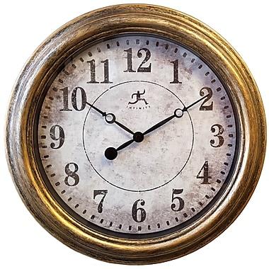Infinity Instruments – Horloge de 15,5 haut. x 15,5 larg. x 1,75 prof. (po), argenté (15199AS-4128)
