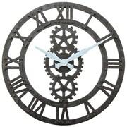 "Infinity Instruments 23.75""H x 23.75""L x 1.75""D Black Clock (15224BK)"