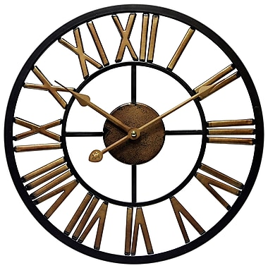 Infinity Instruments – Horloge noire de 13,75 haut. x 13,75 larg. x 2 prof. (15217)