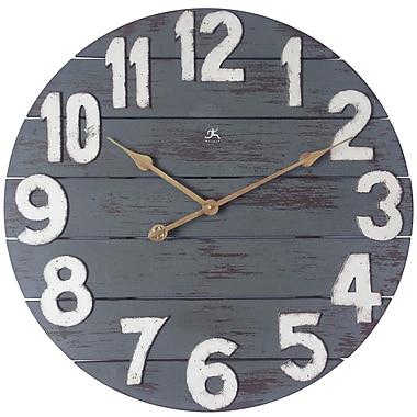 Infinity Instruments – Horloge de 23,75 haut. x 23,75 larg. x 2 prof. (po), bleu antique (15227)