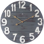"Infinity Instruments 23.75""H x 23.75""L x 2""D Antique Blue Clock (15227)"