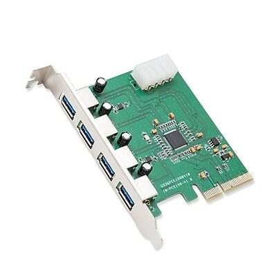 IOCrest PCI-Express x2 USB 3.0 4-Port Card 4-Layer PCB Etron Chipset