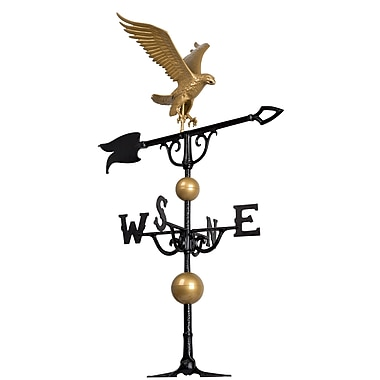 Whitehall Products 46 Eagle Weathervane - Gold-Bronze (00428)