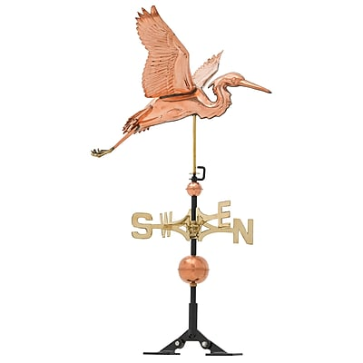 Whitehall Products Copper Heron Weathervane - Polished (45035)