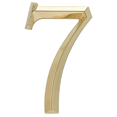 Whitehall Products Classic 6 Inch Number 7 Polished Brass (11107)