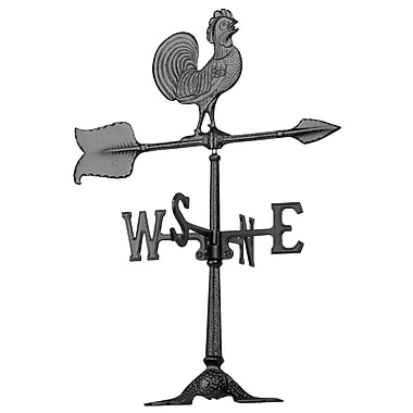 Whitehall Products 24 Rooster Accent Weathervane - Black (67)
