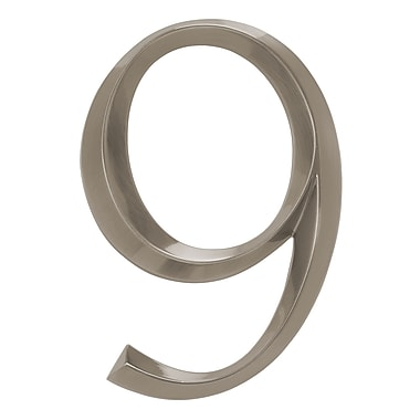 Whitehall Products Classic 6 Inch Number 9 Polished Nickel (11099)