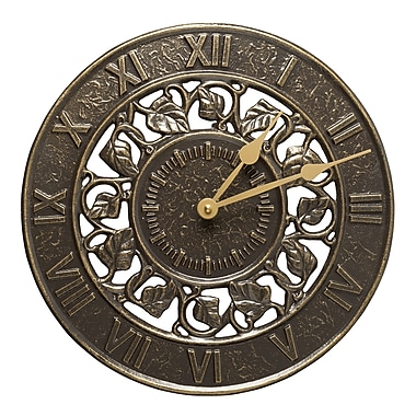 Whitehall Products Ivy Silhouette Clock - French Bronze (01834)