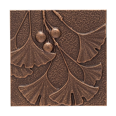 Whitehall Products Gingko Leaf Wall Decor - Antique Copper (10247)