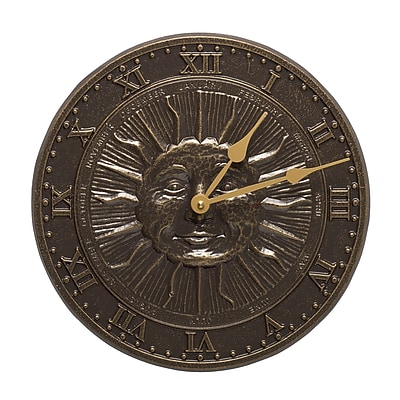 Whitehall Products Sunface Clock - French Bronze (01588)