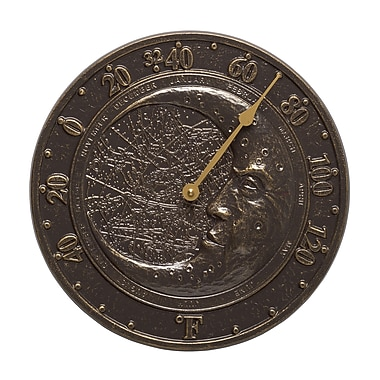 Whitehall Products Moon Thermometer - French Bronze (01683)