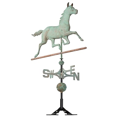Whitehall Products Copper Horse Weathervane - Verdigris (45030)