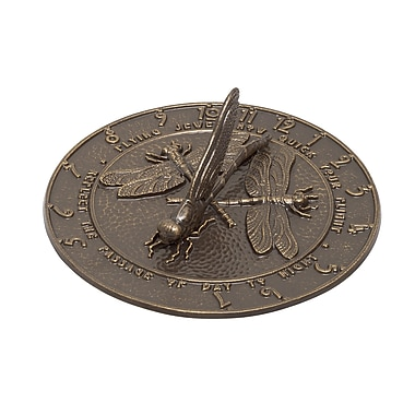 Whitehall Products Dragonfly Sundial - French Bronze (00691)