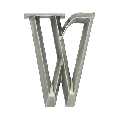 Whitehall Products Classic 6 Inch Letter - W - Nickel (11089)