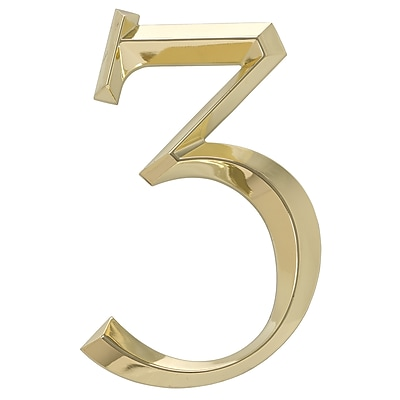 Whitehall Products Classic 6 Inch Number 3 Polished Brass (11103)