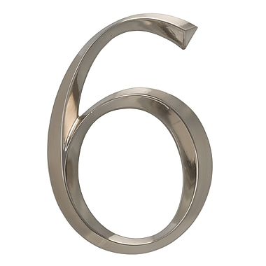 Whitehall Products Classic 6 Inch Number 6 Polished Nickel (11096)