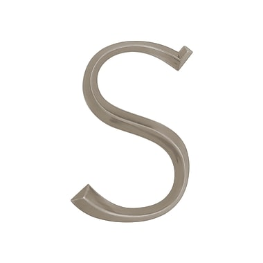 Whitehall Products Classic 6 Inch Letter - S -Nickel (11087)