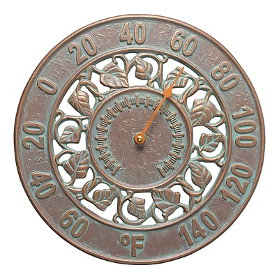 Whitehall Products Ivy Silhouette Thermometer - Copper Verdigris (1282)