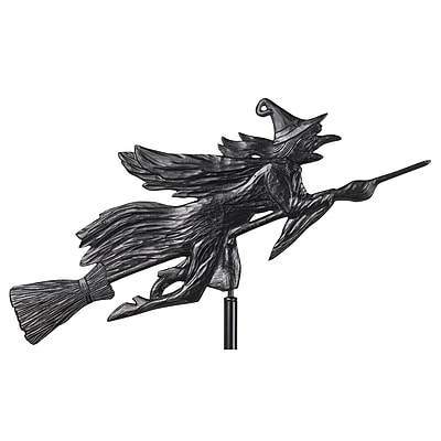 Whitehall Products Flying Witch Garden Weathervane - Black (00084)