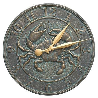 Whitehall Products Crab Sealife Clock (581)