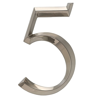 Whitehall Products Classic 6 Inch Number 5 Polished Nickel (11095)