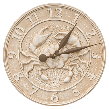 Whitehall Products Crab Sealife Clock (10431)