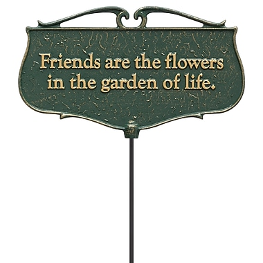 Whitehall Products Friends are the Flowers... - Garden Poem Sign (10041)