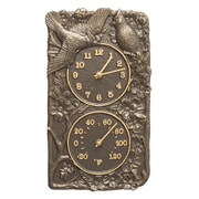 Whitehall Products Cardinal Combo Clock And Thermometer - French Bronze (1949)
