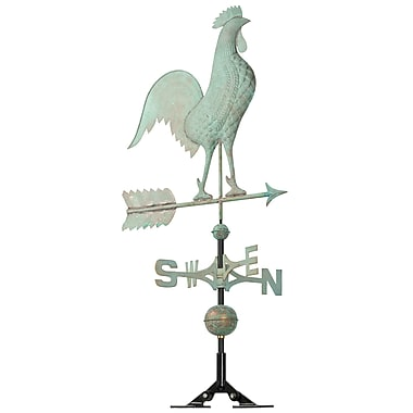 Whitehall Products Copper Rooster Weathervane - Verdigris (45032)