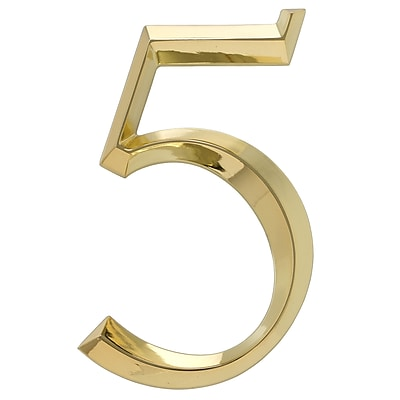 Whitehall Products Classic 6 Inch Number 5 Polished Brass (11105)