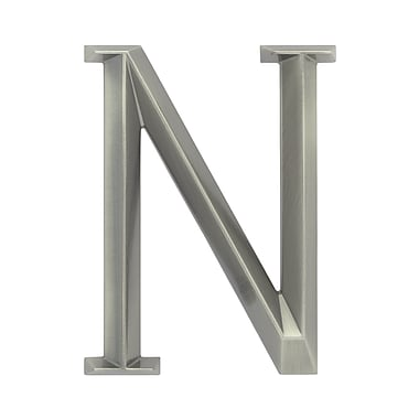 Whitehall Products Classic 6 Inch Letter - N - Nickel (11086)