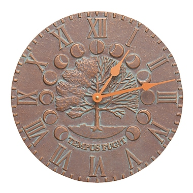 Whitehall Products Times & Seasons Clock-Copper Verdigris (1290)