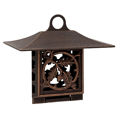 Whitehall Products Oak Leaf Suet Feeder - Oil-Rubbed Bronze (30053)