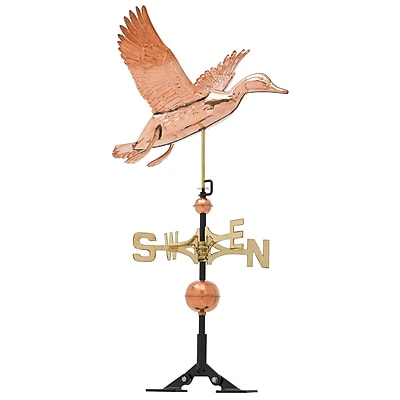 Whitehall Products Copper Duck Weathervane - Polished (45037)