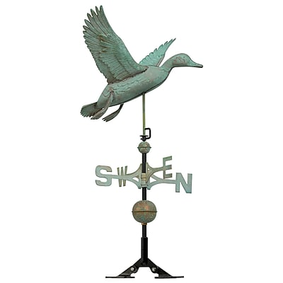 Whitehall Products Copper Duck Weathervane - Verdigris (45036)