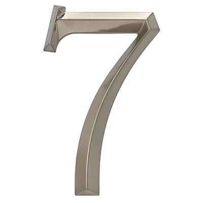 Whitehall Products Classic 6 Inch Number 7 Polished Nickel (11097)