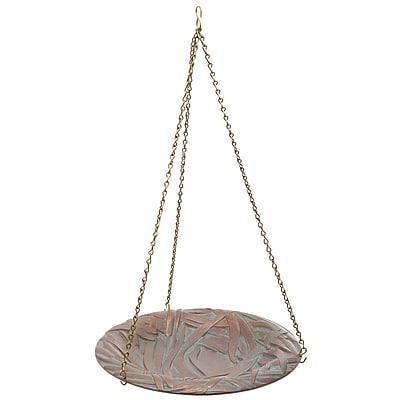 Whitehall Products Dragonfly Hanging Birdbath - Copper Verdi (00189)