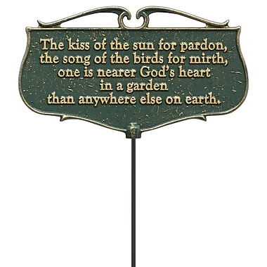 Whitehall Products The Kiss of the Sun... - Garden Poem Sign (10046)