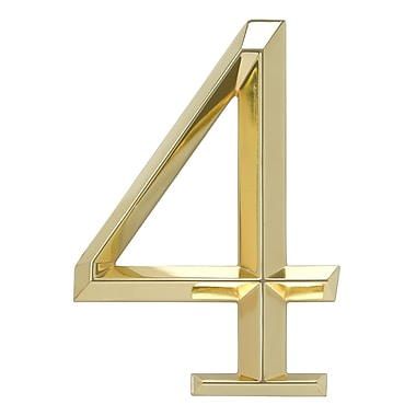 Whitehall Products Classic 6 Inch Number 4 Polished Brass (11104)