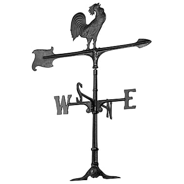 Whitehall Products 30 Rooster Accent Weathervane - Black (00071)