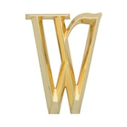 Whitehall Products Classic 6 Inch Letter - W - Brass (11173)