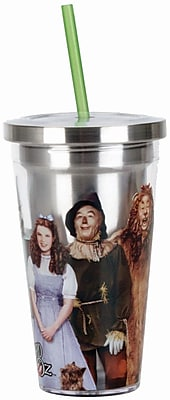 Spoontiques Wizard of Oz Stainless Steel Cup with Straw (20505) 2691466