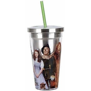 Spoontiques Wizard of Oz™ Stainless Steel Cup with Straw (20505)
