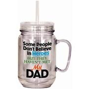 Spoontiques Dad Heroes 18oz Acrylic Mason Jar (17945)