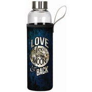 Spoontiques Moon & Back 20oz Glass Bottle with Sleeve (19908)