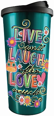 Spoontiques Live Laugh Love Stainless Travel Mug (20817)