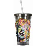 Spoontiques Dean Russo™ Marilyn Monroe™ 16oz Stainless Steel Cup with Straw (20517)