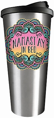 Spoontiques Namastay in Bed Stainless Travel Mug (20811)